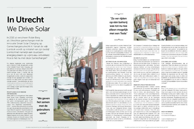 get connected magazine in utrecht we drive solar